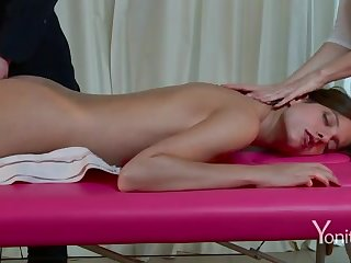 Lecherous massage on webcam