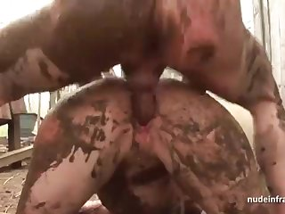 Bony inexperienced brown-haired rectal banged n spunked outdoor in a exploitive french farm