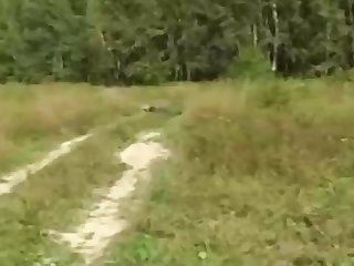Russian girl is day by day having mischievous fuckfest in the nature, in the middle of the day