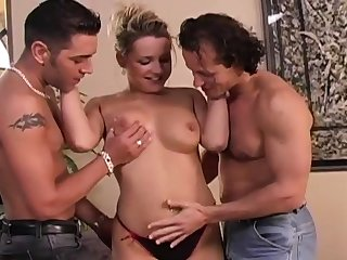 Athletic Teen First Time Double Penetration DP