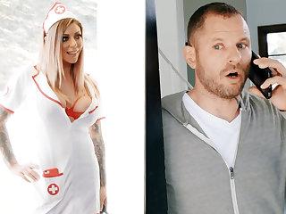 Nurse hardcore be wild about businessman for jar of sperm