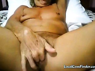 Granny cums primarily cam