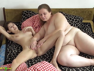 OldNanny Old added to young chick licking added to toying
