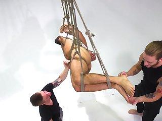 Seem like gay bondage fetish porn for obedient Adam Ramzi
