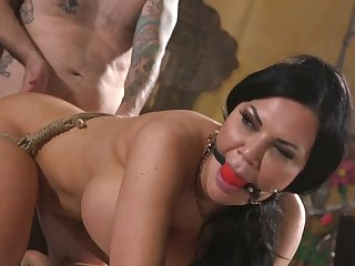 Busty sexy Jasmine Jae deserves grizzle demand only bondage but also some anal