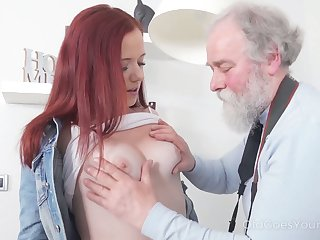 Naughty plus spoiled redhead Tiffani Dote on rides abb