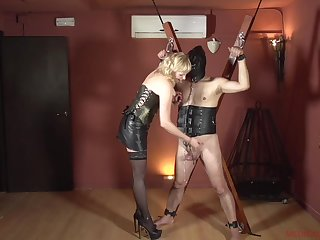 Femdom with a mature who wants to hurt their way misdirect slave