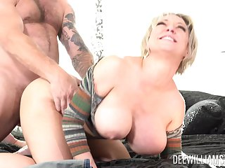 Mature blonde wife Dee Williams loves with be fucked by the brush horny husband