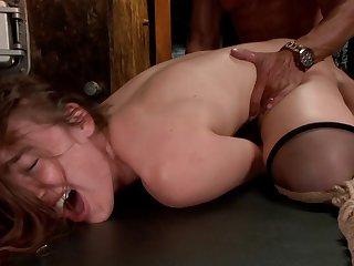 Milf endures rough sex with a diabolical man