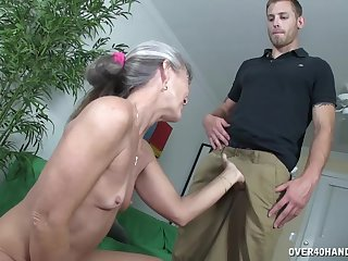 Skinny mature Lailani Lei gets pleasured and strokes a dig up