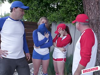 Baseball girl Taylor Blake is attainable to swap BFs for depraved doggy fuck