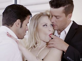 Cheating wife Ash Hollywood fucked by her husbands fagged friend