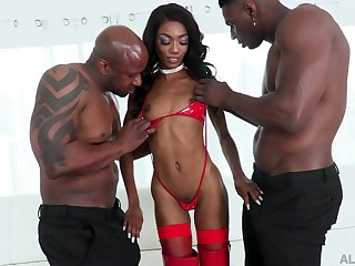 Versatile dastardly cowgirl in all directions sexy dastardly booty Chanel Skye takes ape BBC penetration