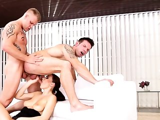 Bisexual friends in triptych with Tina Kay