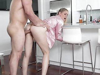 Hot uncle's get hitched in pajama Addie Andrews offers herself in the kitchenette