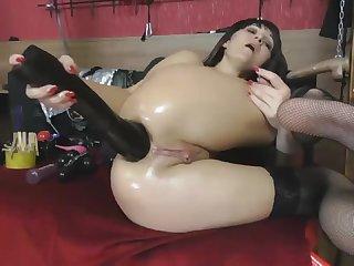 Insane Wet Ass Fisting - Watch in 4K HD